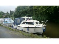 mayland manta river/canal cruiser with 25hp yamaha outboard