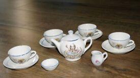 Nursery Rhyme Child's China Tea Set