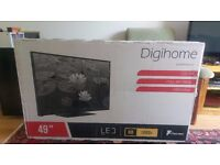 "Digihome 49"" LED TV with built in Freeview - Brand New in box, unopened."