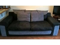 Black and Grey 3 Seater Sofa - Perfect condition