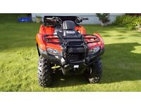 Honda Quad Bike Fourtrax TRX420FM2 420 PS 2014 only 27mls on the clock