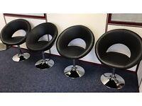 Dwell Bar Stools x 4 - Retro circles bar stool grey