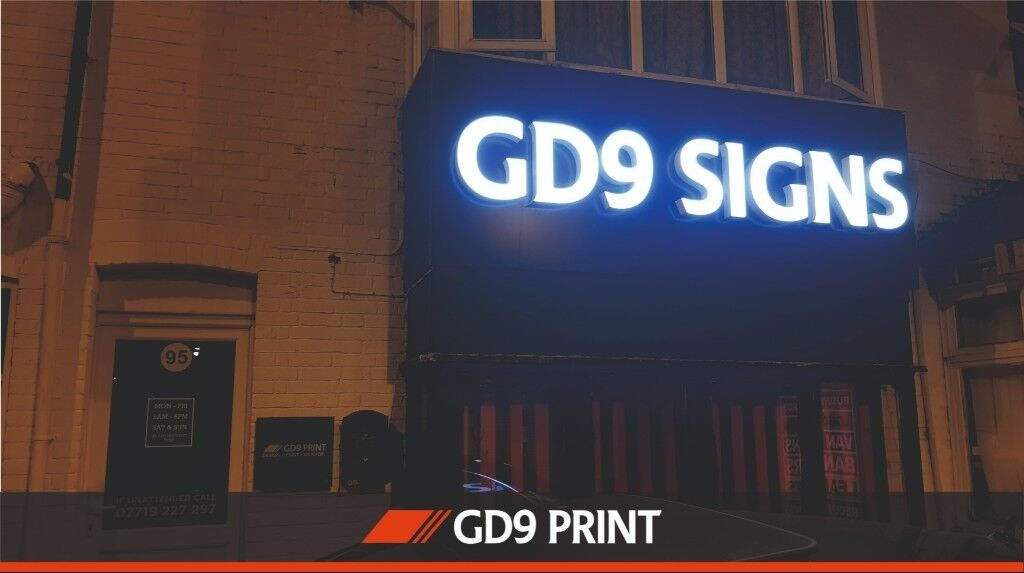 Luton Sign Makers - Shop Front Signs - LED illuminated Light
