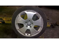 T4 VW VAN AND AUDI A3 ALLOYS WITH GOOD TRYES PARTS