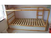Reversible Ikea Kura bed frame