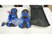 Snorkelling Set, Flippers, Snorkel and Mask