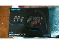 BRAND NEW LOGITECH G29 STEERING WHEEL AND PEDALS FOR PS4