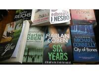 11 books, Coben, Grisham, Reichs