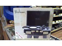 Goodmans portable record player