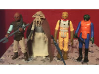 Vintage star wars, Walrus man,Bossk,Squid head and Weequay