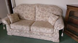 Three Piece Suite. Sofa & 2x Chairs, AS NEW