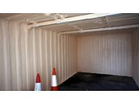Shipping Container Warm and Dry with Spray Foam