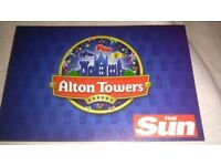 Alton towers ticket for Sunday 17/09