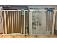 Pair of Lindam stair gates - Sure Shut Axis & Easy Fit Plus
