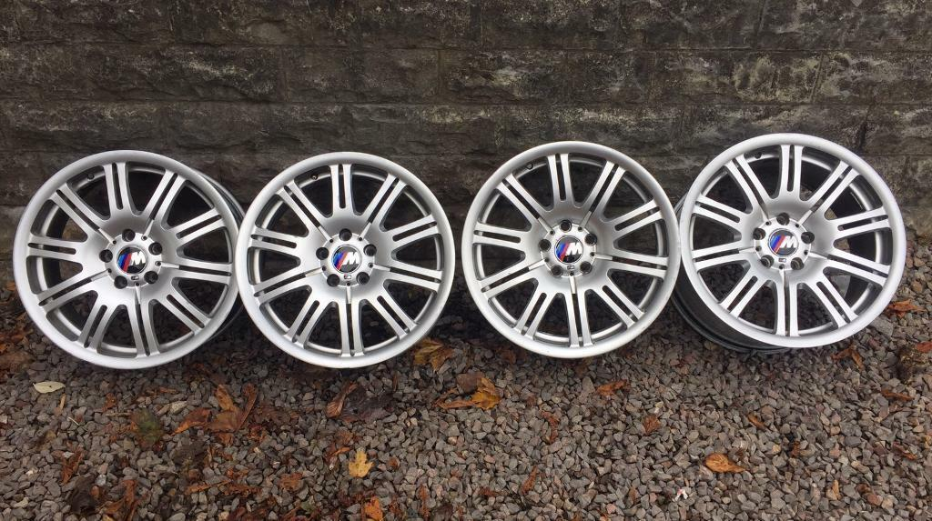 GENUINE BMW M3 STAGGERED ALLOY WHEELS 19in