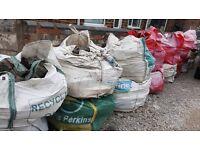 cobblestones for driveways etc.approx 18xbulk bags