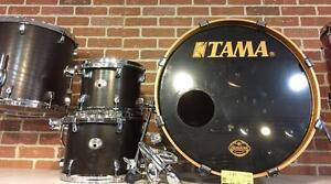 Batterie / Drum Tama Silverstar Special Edition birch fini hickory / 4 morceaux Shell Kit usagé/used