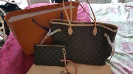 Medium *L V* Neverful bag brand new
