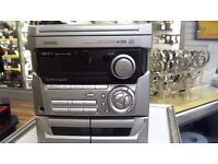 AIWA HI-FI SYSTEM, 3CD CHANGER, 2 TAPE AND RADIO, FULL 6 MONTHS WARRANTY