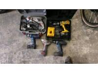 Job lot of drills power tools makita dewalt etc