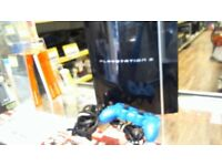 SONY PS3 HAS LEADS AND CONTROLLER