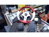 MAD CATZ PC STEERING WHEEL AND PEDALS