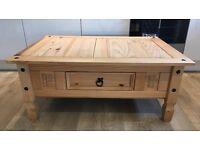 Pine Puerto Rico style coffee table
