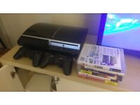 Playstation 3 (PS3) 120GB Wifi system with 2 controllers and games