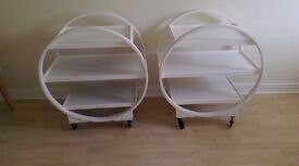 Pair of Art Deco Savoy Cocktail/ Trolleys Done in the Shabby Chic