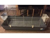Ferplast 1.2m Indoor Rabbit Guinea Pig Cage Setup Bundle