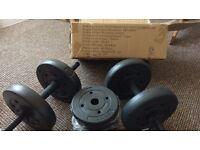 Dumbbells 4x2.5 kg + 4x1.25 kg. Set