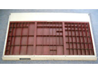 Cornerstone Printer's Type Drawer, Job Case, Letterpress Adana Tray, Wall Display
