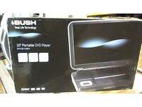 """BUSH 10"""" PORTABLE DVD PLAYER BOXED"""