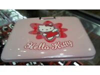 "Hello kitty portable pink dvd player 7"" has power, 6 months warranty"