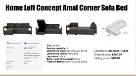 Home Loft Concept Amal Corner Sofa Bed