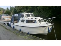mayland manta 21 ft 4 berth river/canal cruiser with / 25hp yamaha auto lube outboard