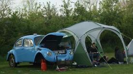 Custom Vw beetle teardrop caravan camping trailer