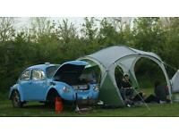 Custom Vw beetle teardrop caravan camping trailer
