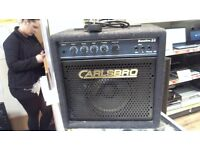 CARLSBRO BASSLINE 25 BASS AMPLIFIER COMES WITH POWER SUPPLY