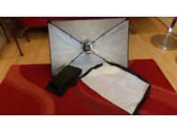 Various photography Light Boxes, Softboxes, Bulbs, lighting & stands. Offers Welcome for quick sale.