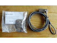 Laptop security cable lock with combination - Targus Defcon CL - plus base plate