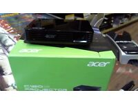 ACER LED PROJECTOR, MODEL CWV1109, BOXED WITH LEADS