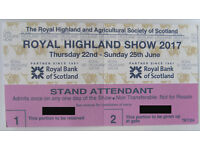 One Royal Highland Show Ticket
