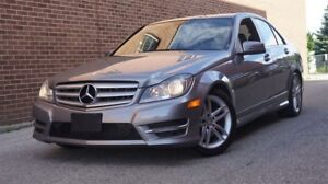 2013 Mercedes-Benz C-Class 300, Low KMs, AWD, Leather, Sunroof,