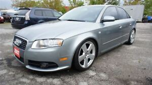 2007 Audi A4 S-LINE, 6 SPEED, LEATHER, SUNROOF