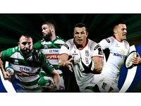 2 Grandstand seating tickets, Ulster v Treviso, Belfast City centre