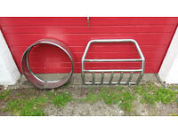 Bull Bar + Spare Wheel Cover from a Mitsubishi L200 (may fit other models)
