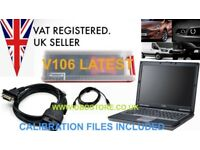 Ford I D S Diagnostics laptop with cables and software 2017 Dealer Level V107