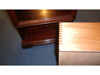 Hi-Fi cabinet and matching TV-Video cabinet in mahogany. Sold together or as a pair.