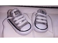 Silver baby Converse size2
